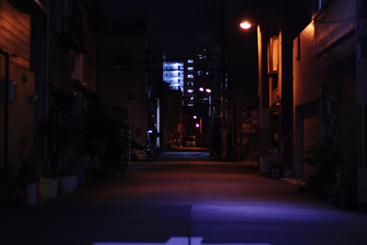 The Way Forward Mywaytohome Night Built Structure Architecture No People Outdoors City Real Life Nightlife City Cityscape Street Osaka,Japan EyeEmNewHere