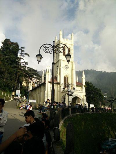 Church Historical Building Historical Place Theridgeshimla Cloud - Sky Built Structure Clock Sky Day Religion