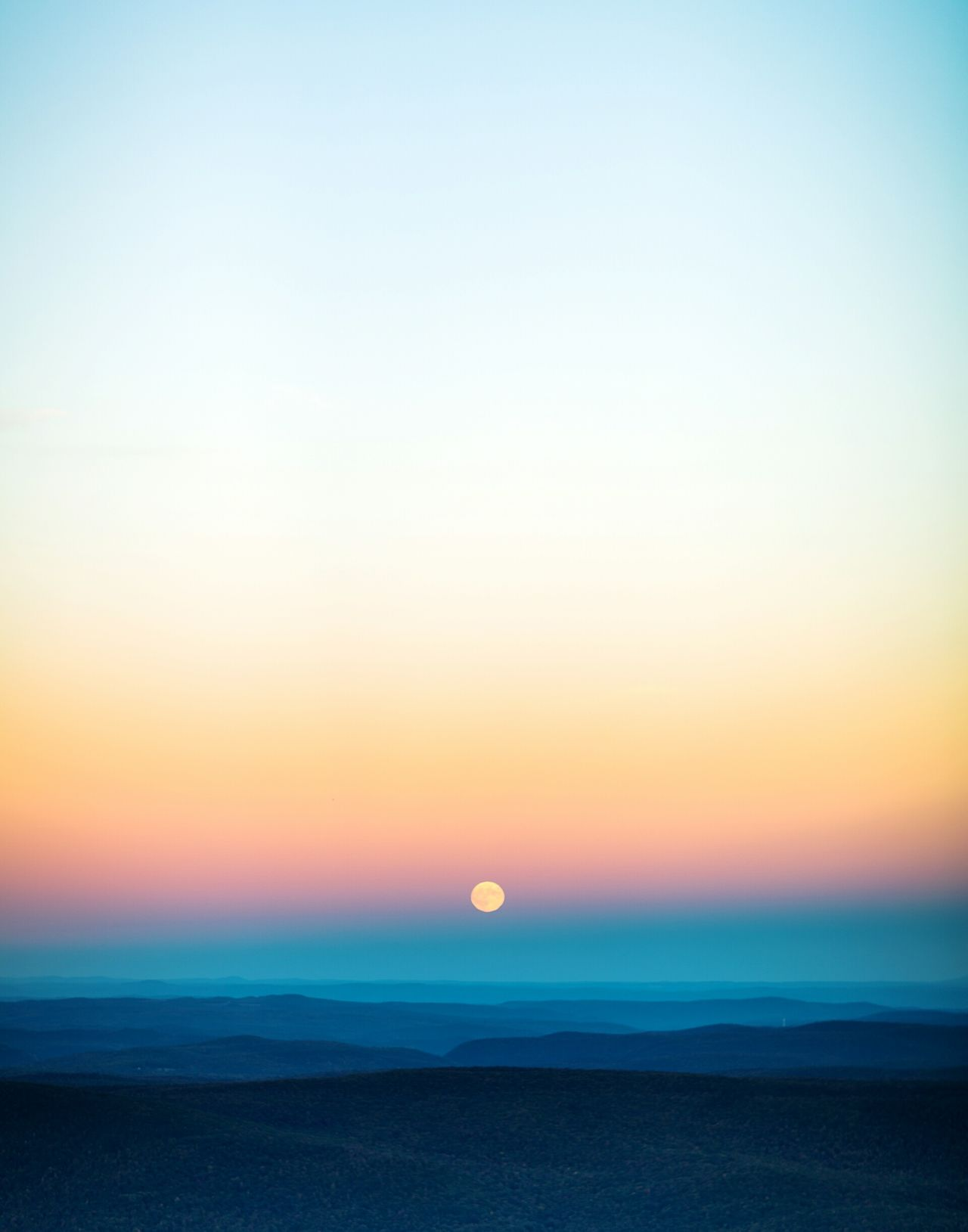 Grey Lock Mountain State Park  Massachusetts Moon Rise Color Canon 5dMarkIII 85mm/f1.2L
