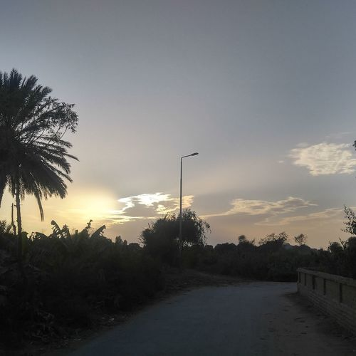 My village beautifull weather clouds hide the sun
