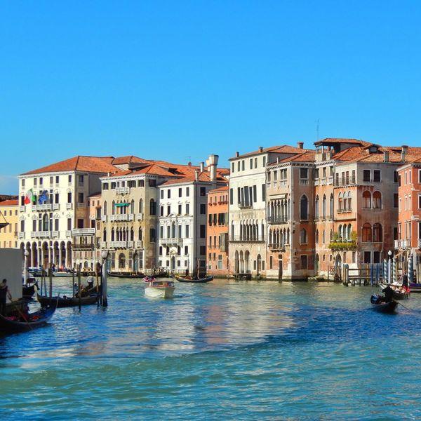 Venezia Venexia Venice Blue Sky Grand Canal