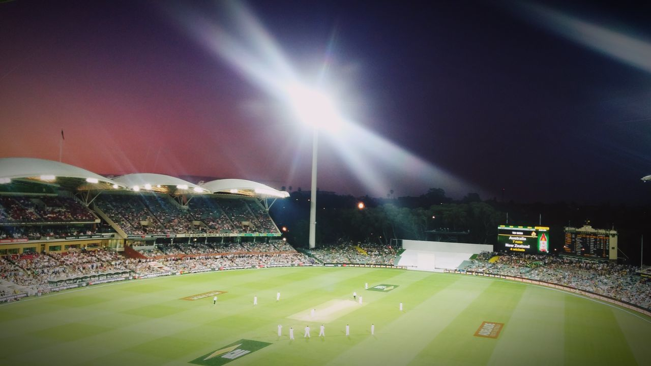 The Color Of Sport Night Illuminated Sunbeam Lens Flare Sky Multi Colored Light Beam Outdoors Bright City Life Tranquility Sunrays Surface Level