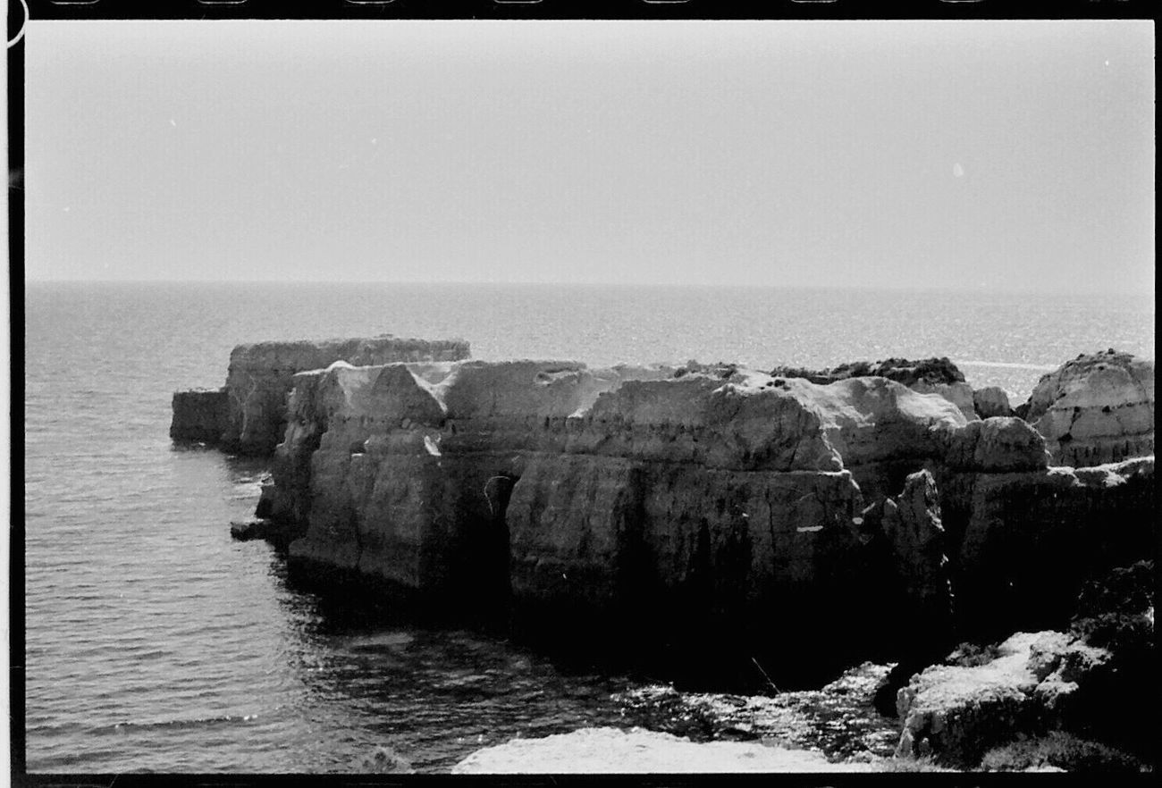 Clear Sky Sea Tranquil Scene Outdoors Beauty In Nature Water 1980s Koduckgirl Nikon FE Portugal Blk N Wht