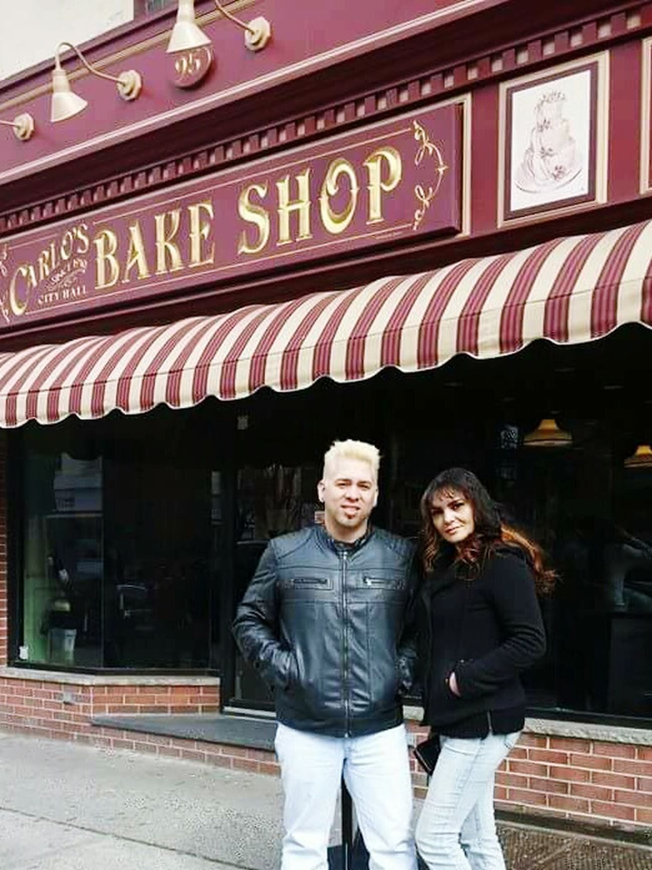 Self Portrait Around The World A trip with my friend to taste the awesome cakes by the Cake Boss Buddy and his staff at Carlos Bake Shop in Hoboke. N.J. Photo Taking Photos