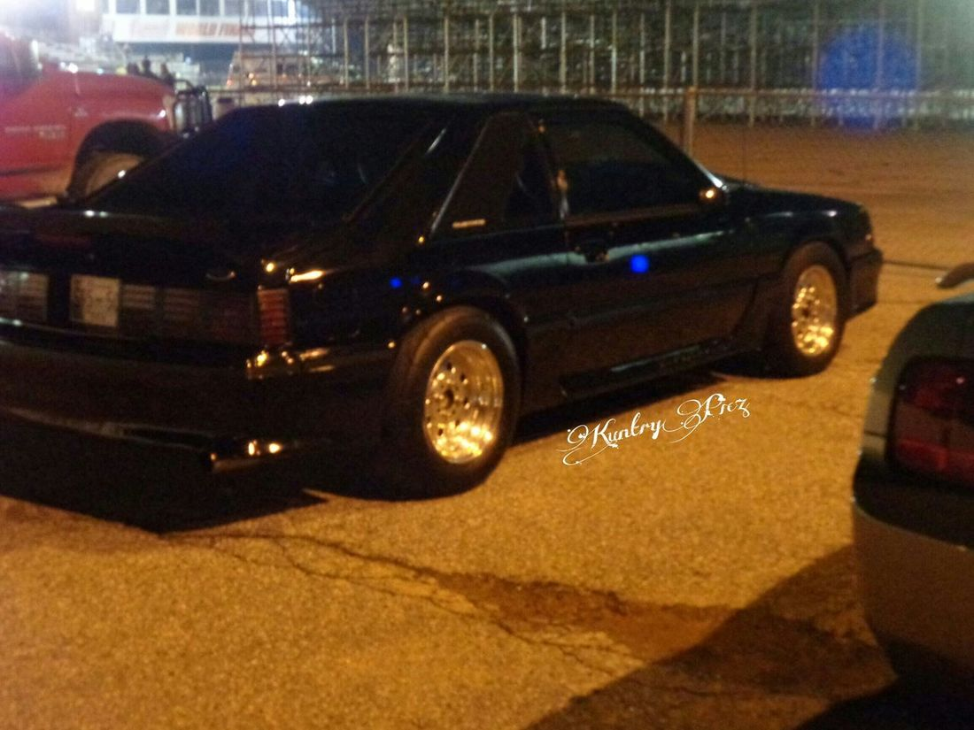 Ford Mustang Stang Race Car Nightphotography Blackcars Nightshot Carphotography