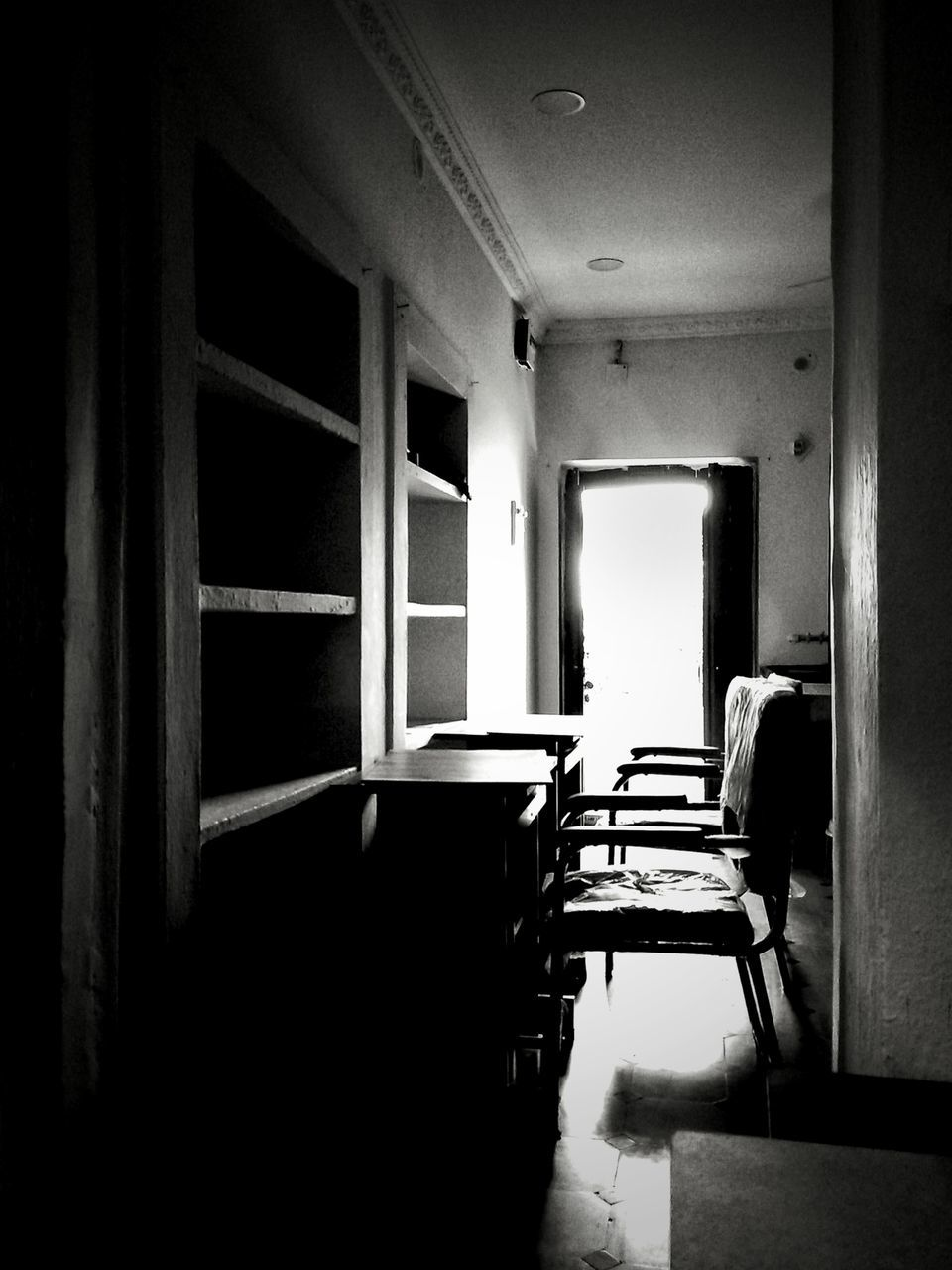 indoors, chair, empty, absence, window, furniture, no people, home interior, open door, architecture, day