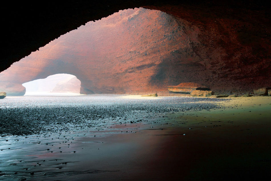 Arch Atlantic Beauty In Nature Cave Cloud - Sky Famous Place Geology Legzira Morocco National Landmark Natural Arch Natural Landmark Nature No People Non-urban Scene Physical Geography Rock - Object Rock Formation Scenics Sea Tourism Tranquil Scene Tranquility Travel Destinations Water