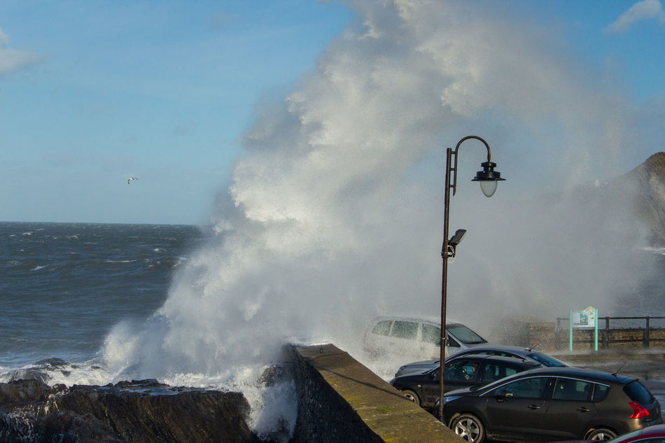 Waves Crashing @Ilfracombe Harbour (Storm Doris) Beauty In Nature Crashing Waves  Day Devon Mode Of Transport Nature North Devon Outdoors Sea Sky Storm Doris Storms Surf Transportation Water Waves Waves, Ocean, Nature
