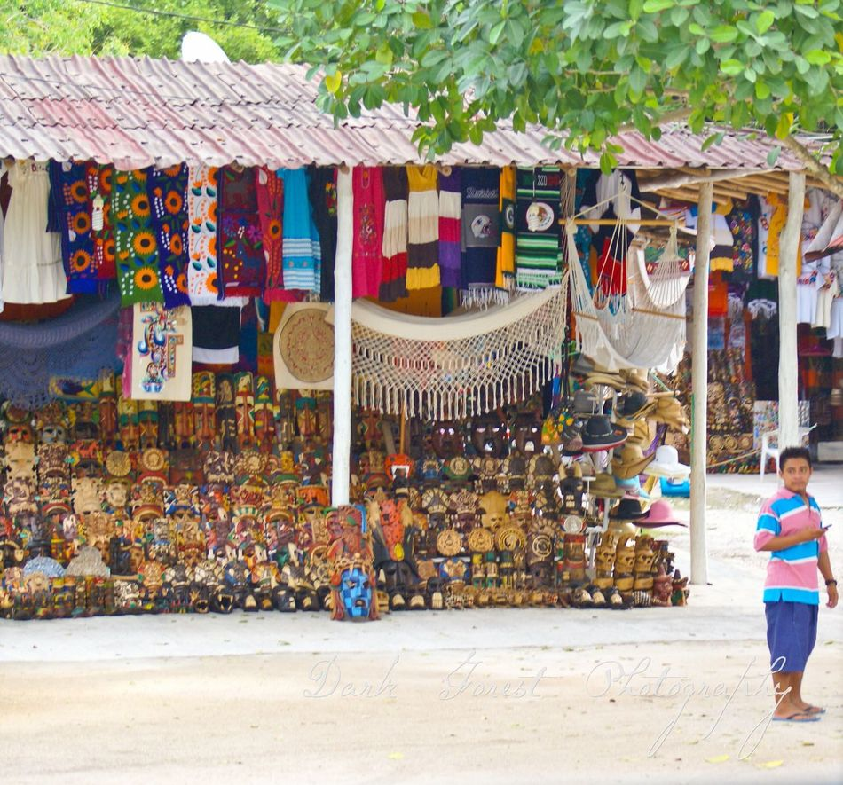 Marketplace colours Multi Colored Travel Destinations Outdoors Day People Adult Cultures Large Group Of People Adults Only Mexico Tulum , Rivera Maya. Tulum Ruins Tulum, Mexico Travel Photography