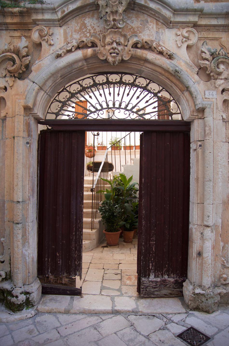 Arch Architecture Building Exterior Built Structure Door Entrance Italy Locorotondo Open Door