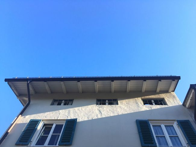Bavarian Architecture Lightandshadow Light And Shadow Shadows & Lights Architecture Building Exterior Built Structure Bad Tölz Clear Sky Low Angle View Residential Building Residential Structure High Section Architectural Feature Building No People