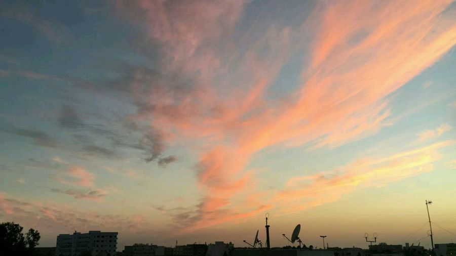 Cloud - Sky Sunset Sky Outdoors Scenics Multi Colored No People Backgrounds Nature Technology Day City Morocco Safi