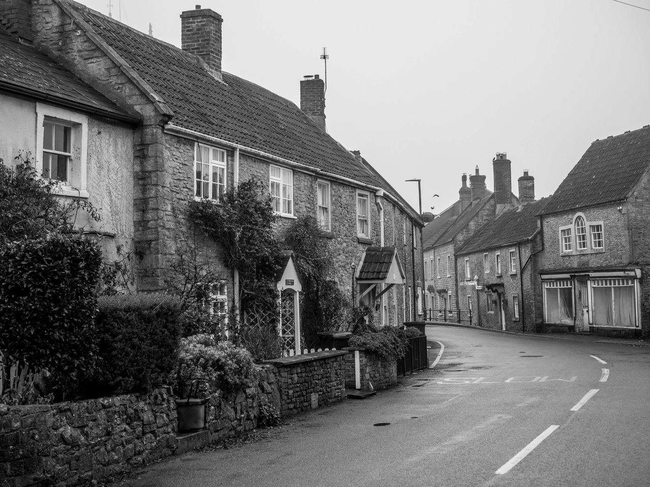 Architecture Black And White Building Exterior Built Structure Day English Village House Medieval No People Old Houses Outdoors Sky Village