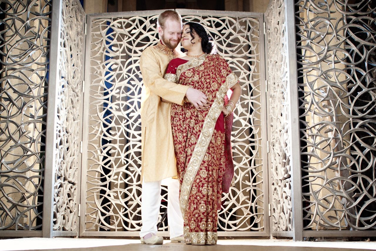 Wedding Wedding Photography Indian Saree San Diego Balboa Park Red Gold Light Love Marriage