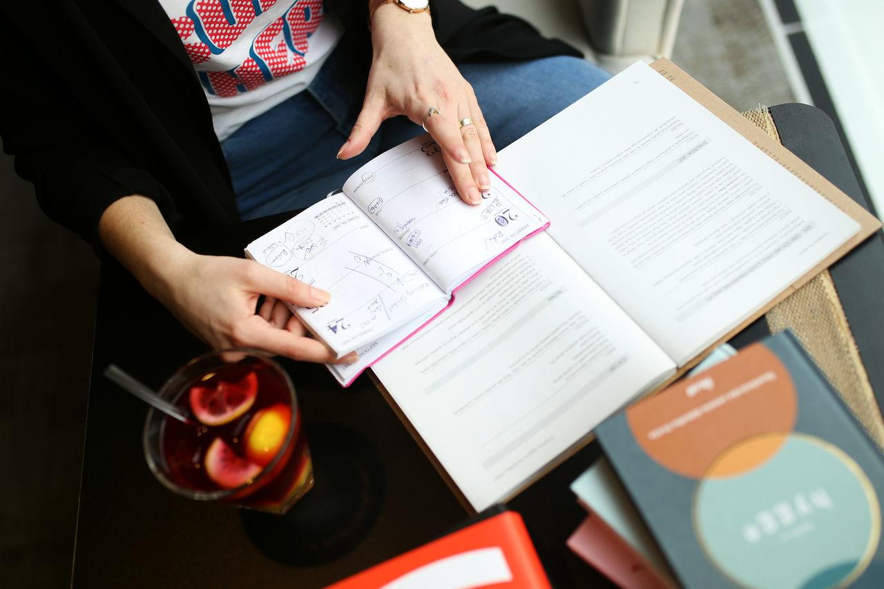 Books Communication Diary Holding Human Hand Indoors  Lifestyle
