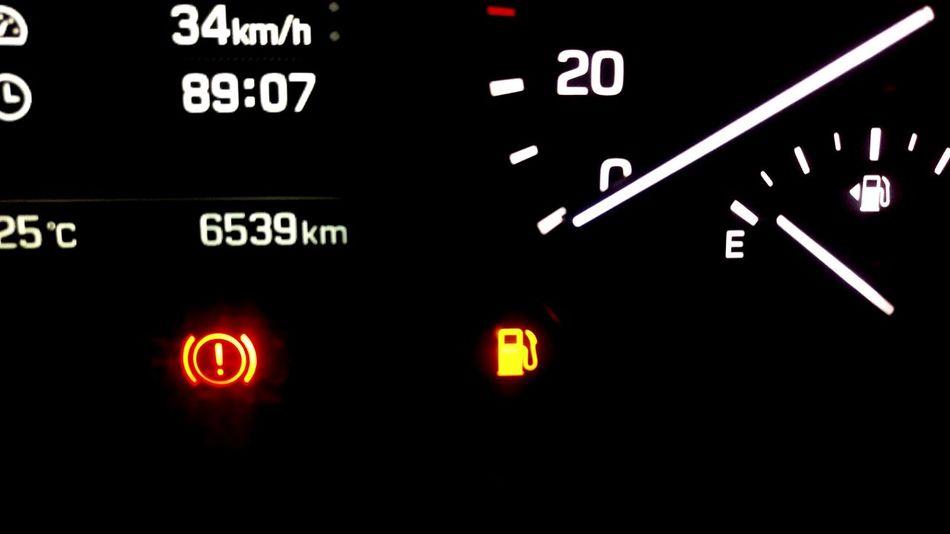 She empty Car Petrol Empty Dials