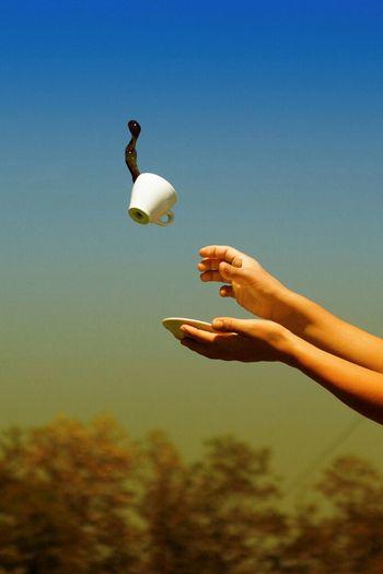 A flying Italian coffee