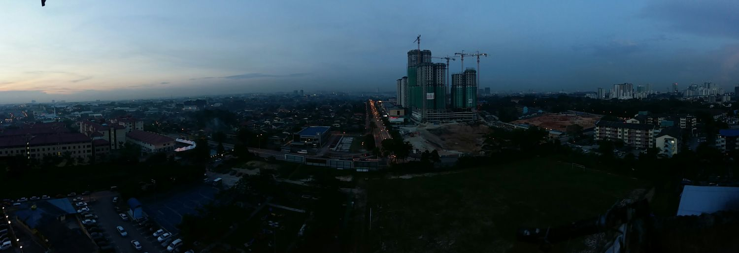 Panorama view from level 15th..