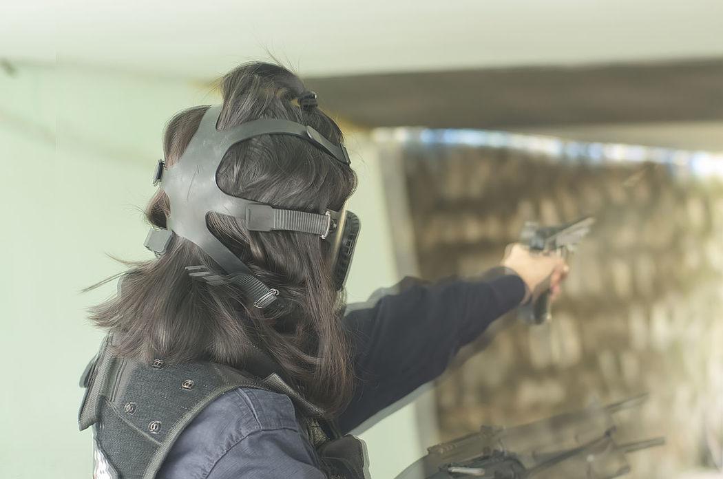Shooting Double Exposure Police