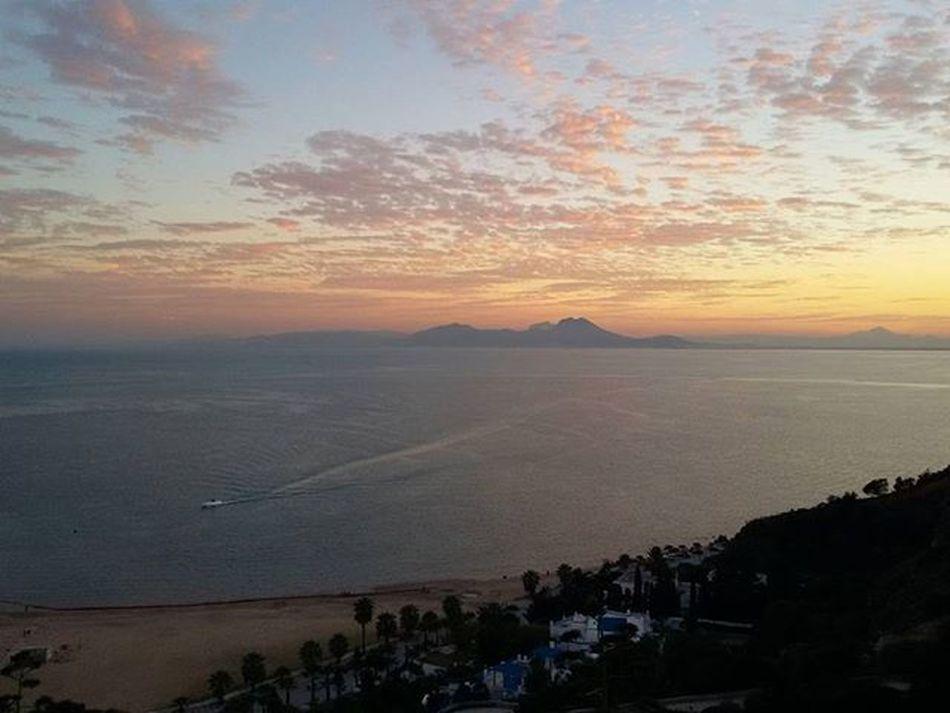 Tunisia Igertunisia Mountain Sea Sunset Boukornine Carthagina أحكيلي الغروب كما يراه البارون :)