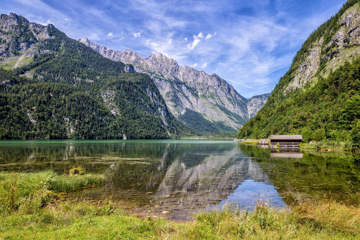 Schoenau Am Koenigsee Bavarian Alps Bayern Germany Lake Mountains Reflections Reflections In The Water Schönau Am Königsee Valley
