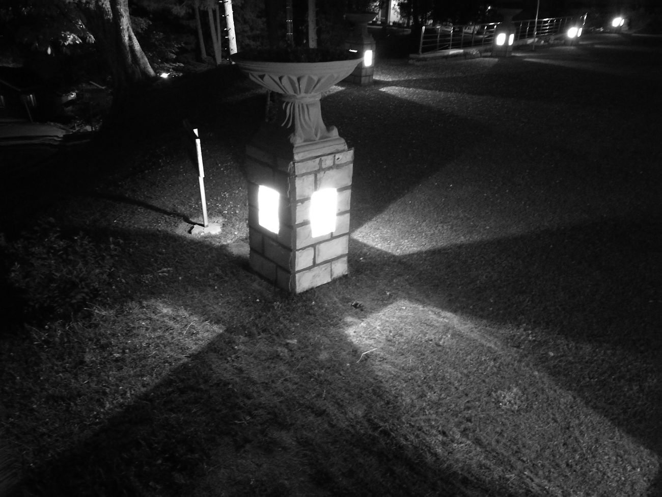 Monochrome Lamppost Light In The Darkness Glowinthedark