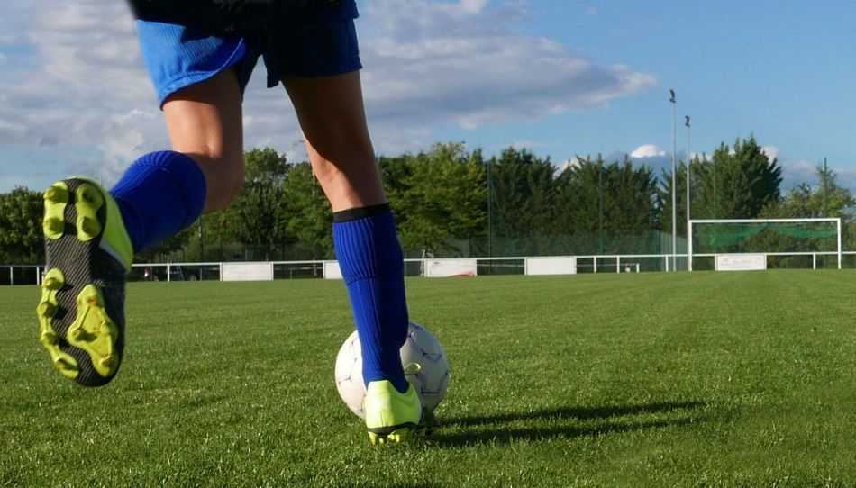 Beautiful stock photos of soccer balls, Day, Field, Grass, Green Color