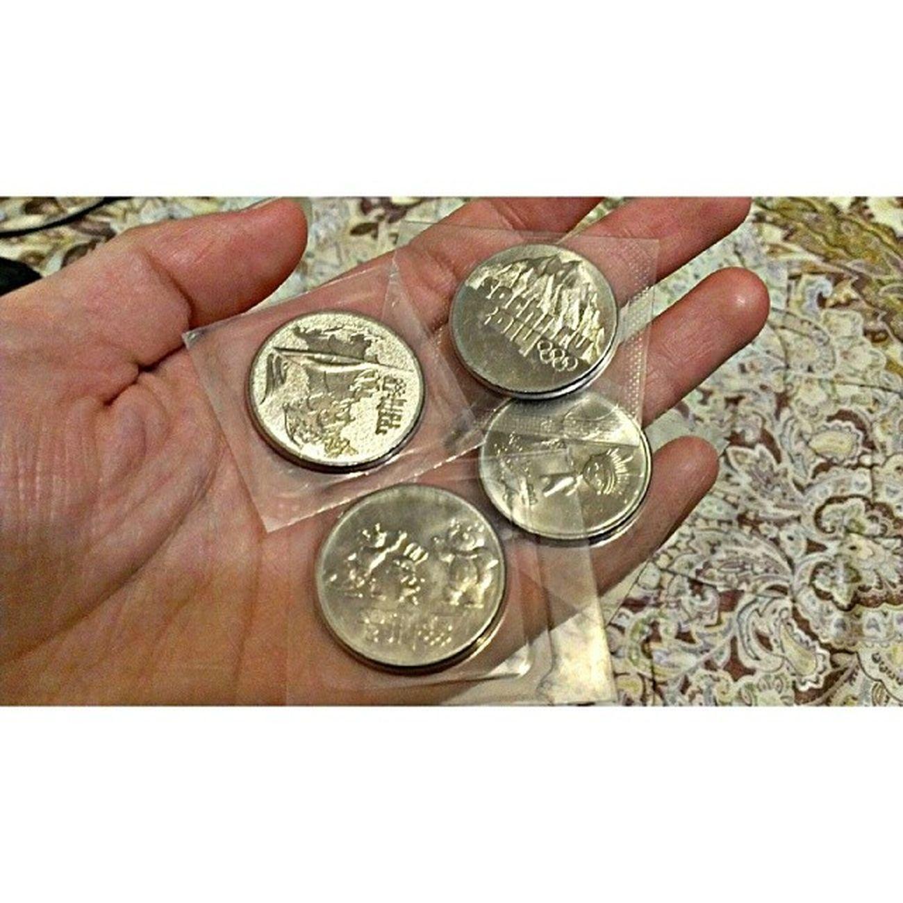 Сочинские монеты 25 рублей Sochi 2014