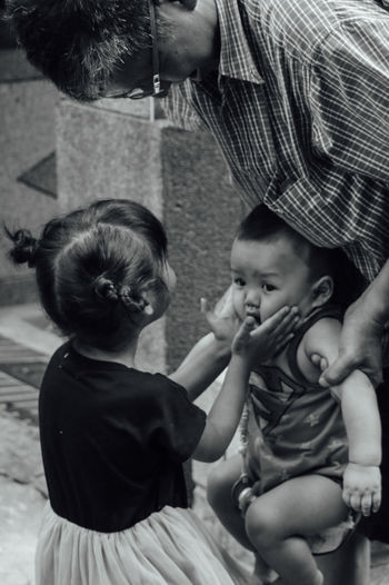 Check This Out Hello World Relaxing Hi! Enjoying Life Travel Photography Streetphotography Street Photography Street Child Young Black & White EyeEm Gallery Love City Street Leisure Activity Taiwan Cute Childhood Bw Photography Travel Outdoors Lifestyles Hanging Out Taking Photos
