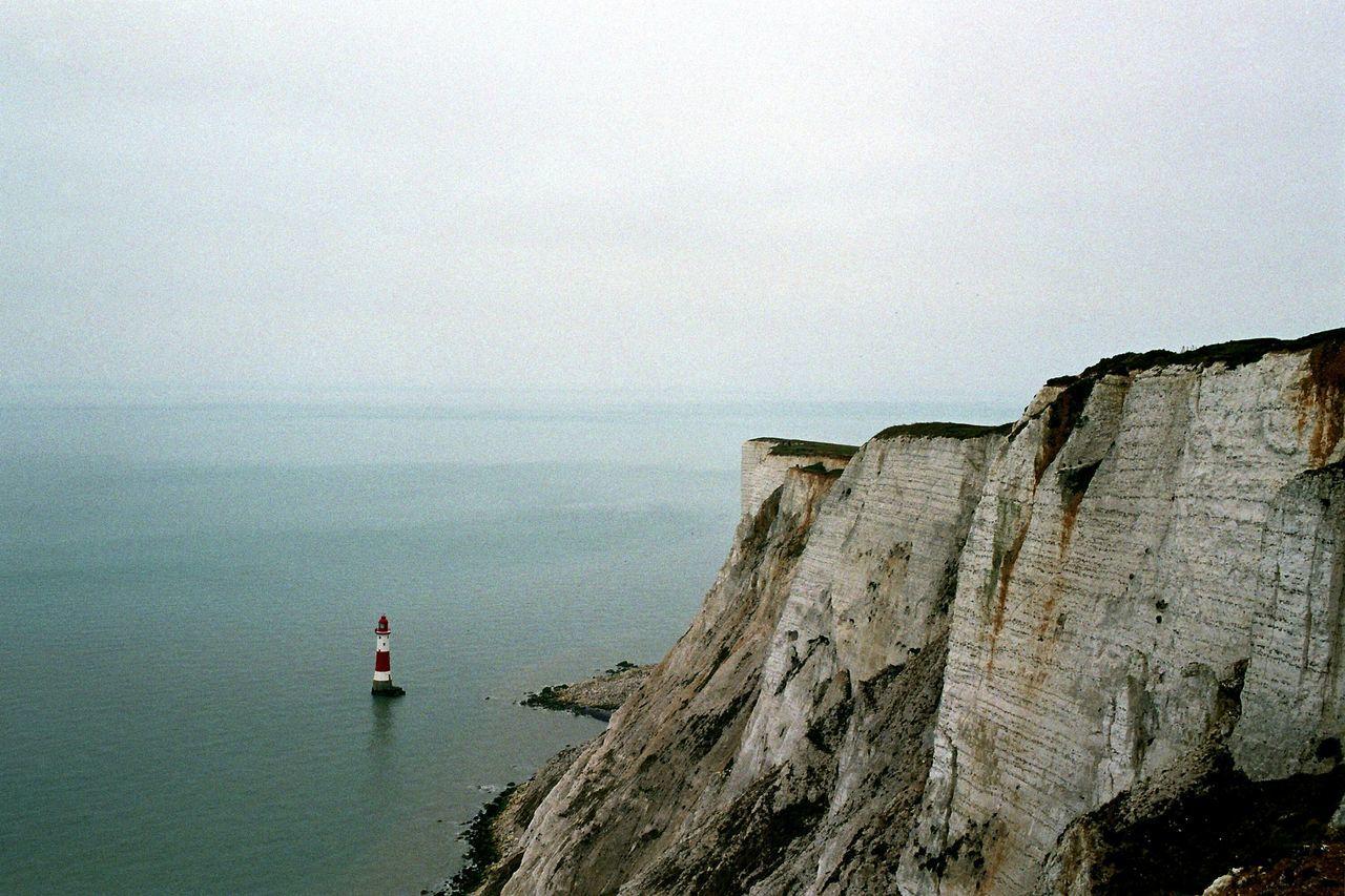 Eastbourne Seascape Sea And Sky Seaside Canon Beachy Head Uk Lighthouse Film Photography Nature