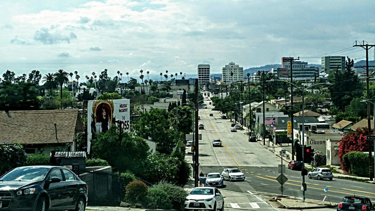 Looking into east hollywood