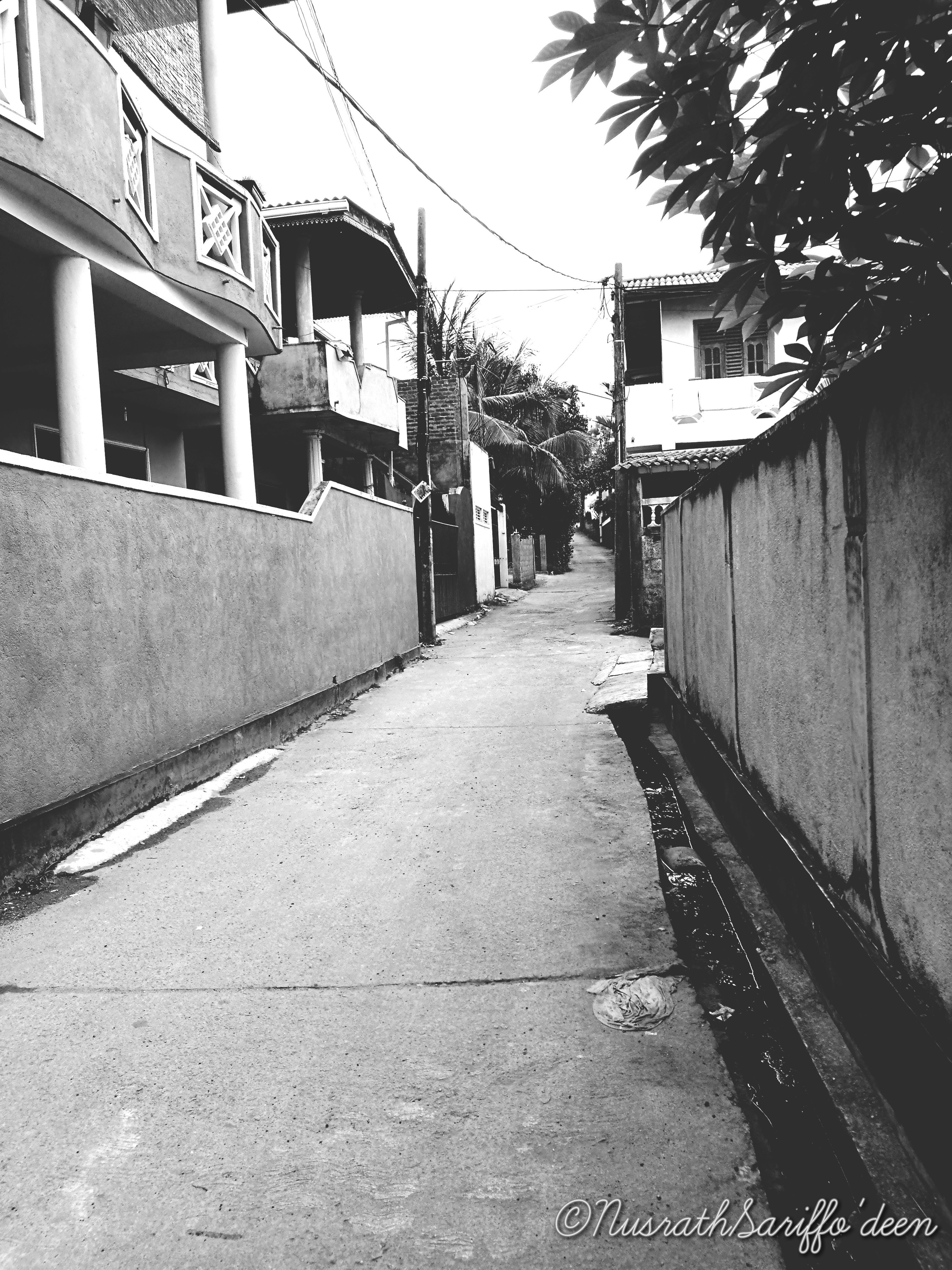 Blackandwhite Architecture Street Outdoors No People Suburbsofsrilanka Welcome To Black