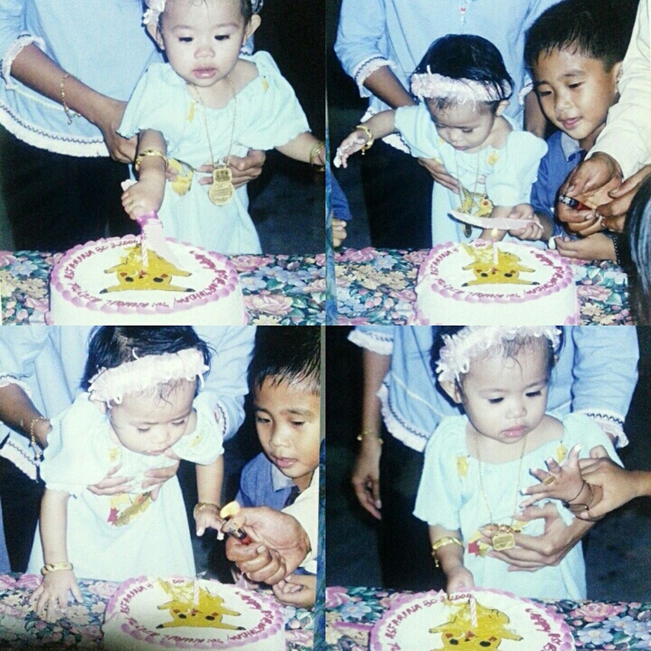 her first cake 🙆 Happy 21st to the one beside her. Happy birthday oniichan :3 time flies fast 00sMemories