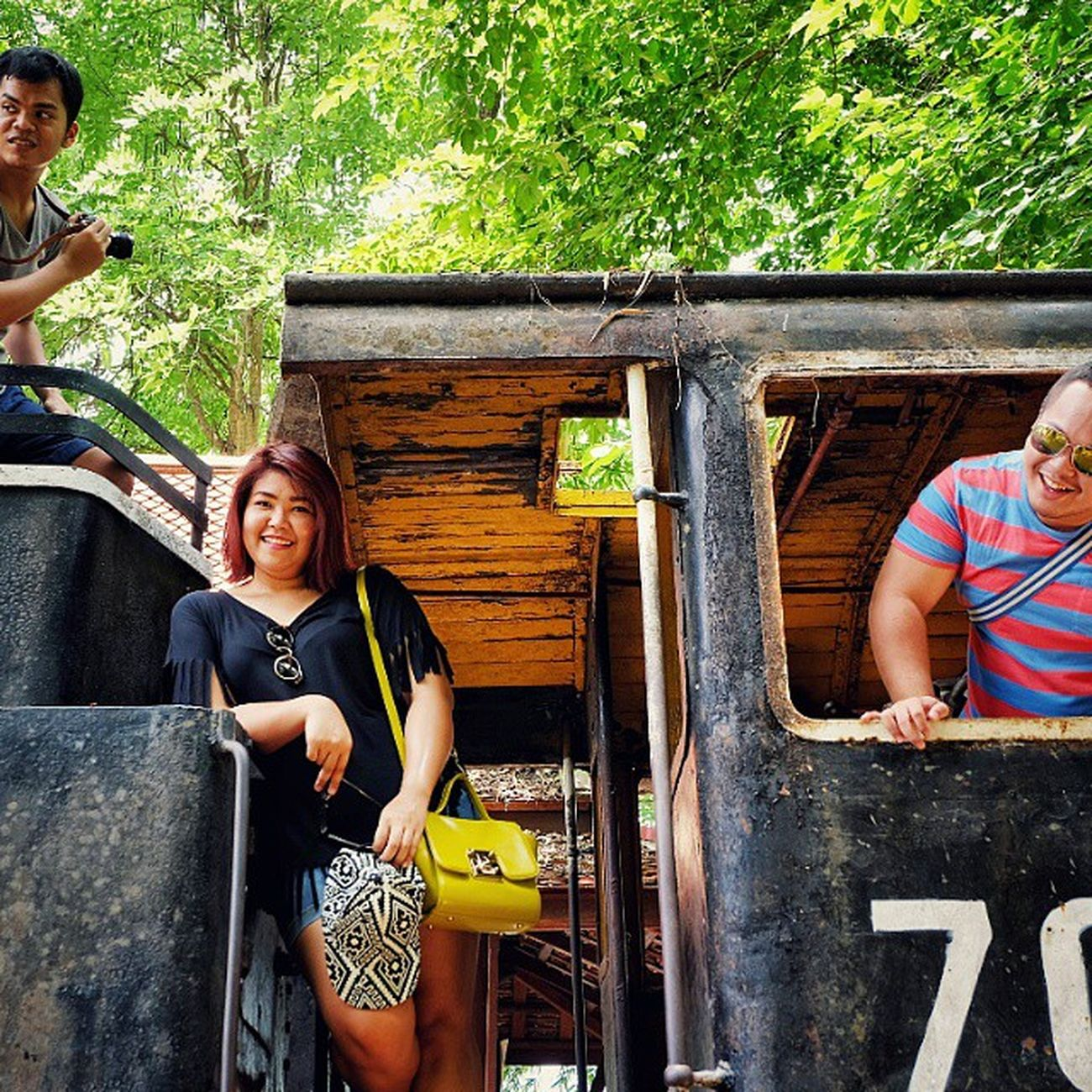 Hipster travellers Friends Fujifilm_xseries Fujixm1 Bigguy Kanchanaburi Saiyoknoi Train