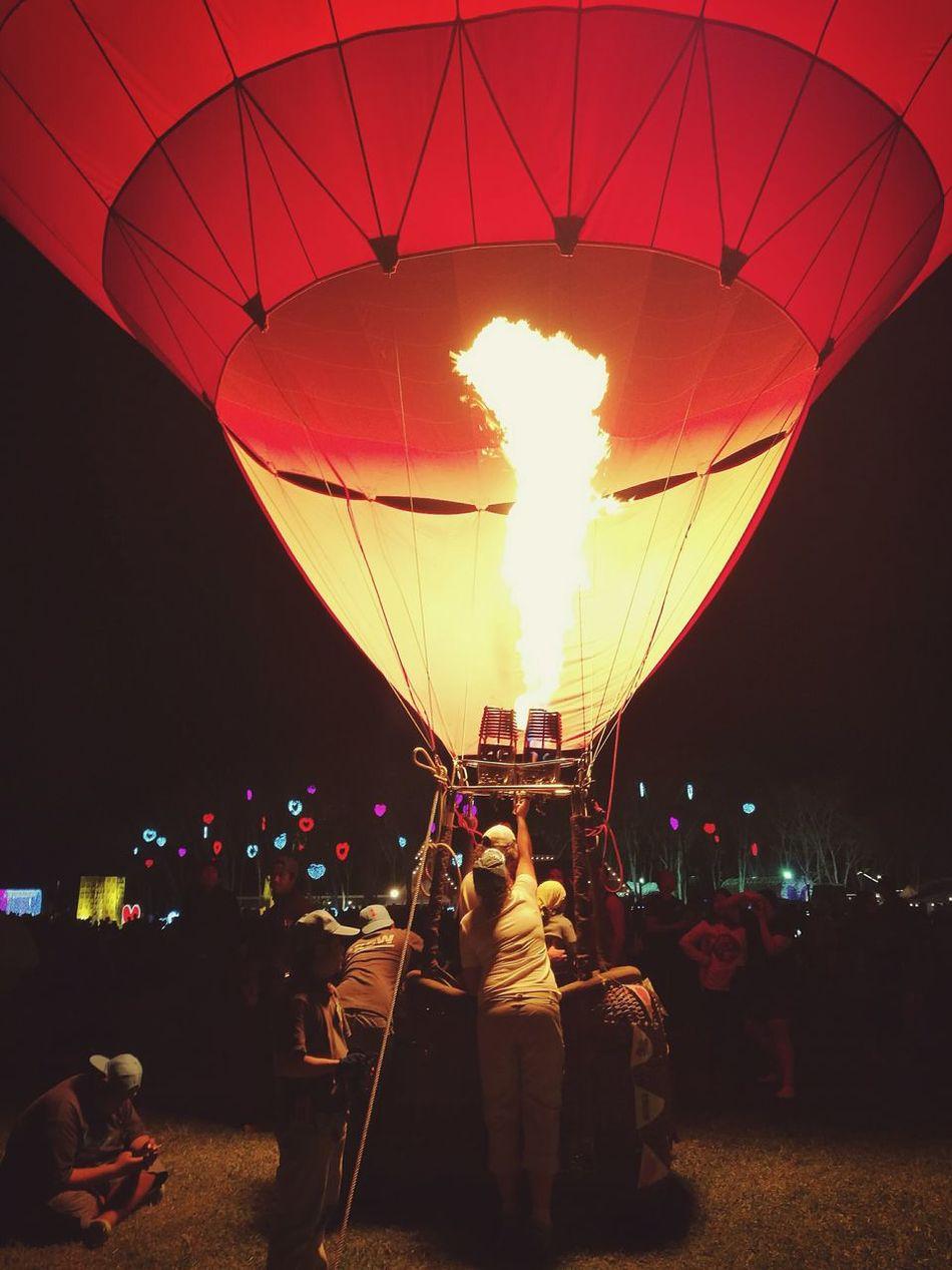 Red Hot Air Balloon Balloon Flame Night Balloonsfestival Singhaparkchiangrai Singhapark Thailand Chiangrai Internationalballoonfiesta Huaweiphotography HuaweiP9plus P9plus P9PlusPhotography EyeEmNewHere
