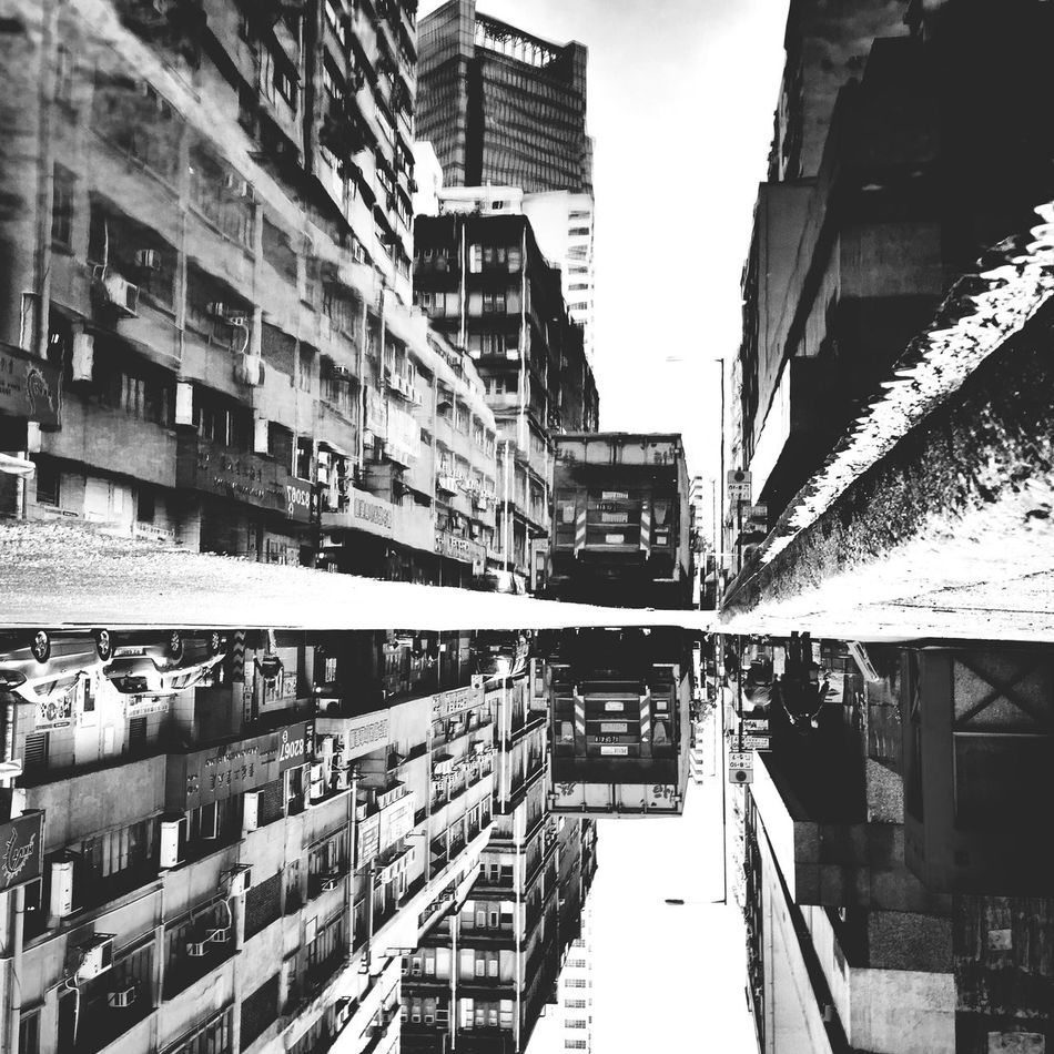 Reflection /Reverse HDR Iphone6 IPhoneography Reflection Water Blackandwhite Instagramers HongKong Discoverhongkong Mobilephotography