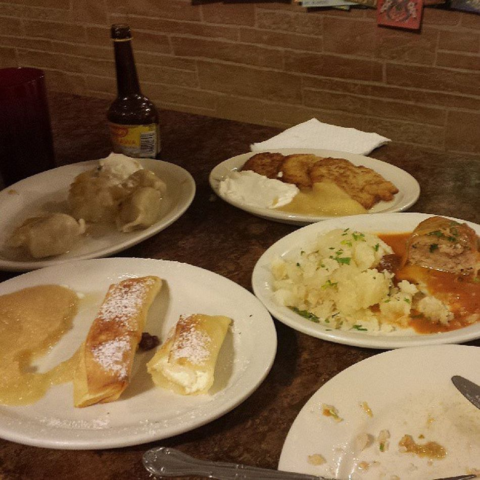 This is, of course, after the soup... soooo much food. Didn't even have to order. Podhalanka Polski Smacznego