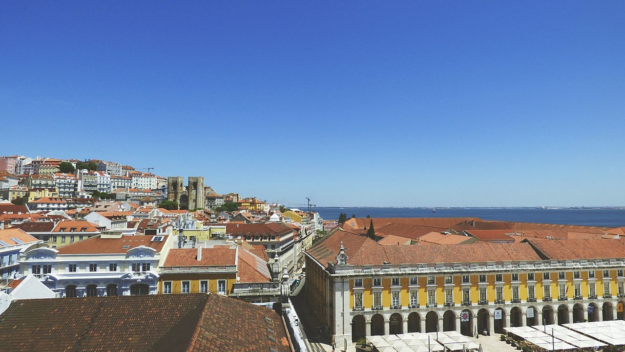 The Lisbon Roofs City Escape Rooftops Lisboa Portugal Sky City Buildings View From The Top Showcase: October Lisbon Documentary Photography Street Photography Lisbon - Portugal Lisbon City Life City View