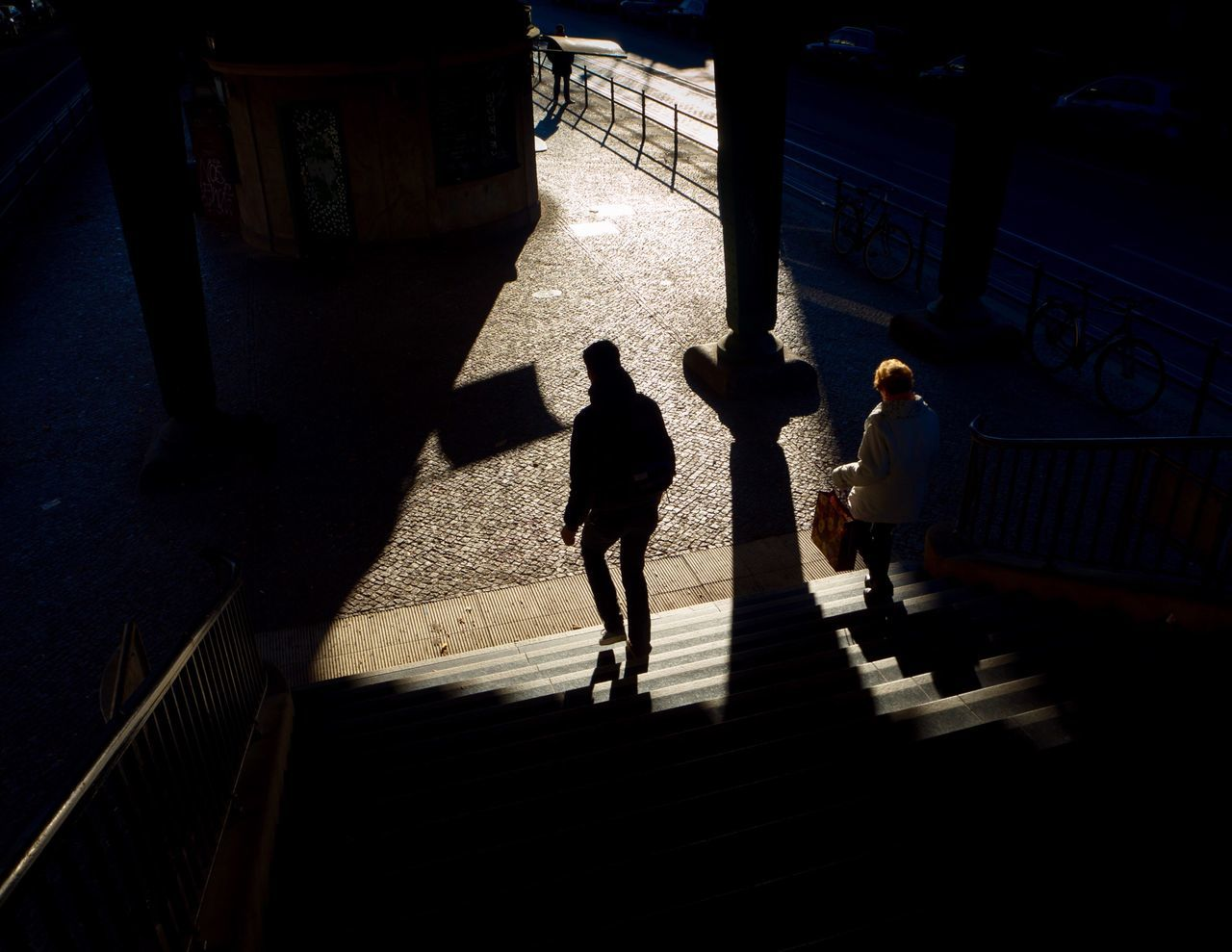 My Eyes My Berlin Walking Shadow Urban Geometry Urban Exploration Best Of Stairways People You & You Silhouette Street Photography Full Length Architecture The City Light Stillness In Time Film Fine Art Real People Still Life Cityscapes EyeEm Masterclass EyeEm Best Shots Cityscape City