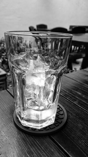 Ice Black And White Water Cafe