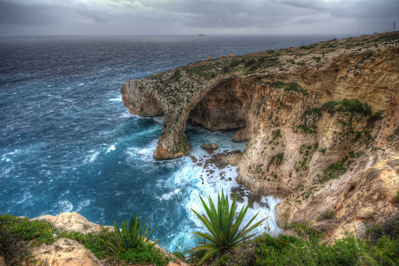 Beach Beauty In Nature Blue Grotto Day Horizon Over Water Idyllic Malta Natural Arch Nature No People Outdoors Rock - Object Rough Sea Scenics Sea Sky Water EyeEmNewHere