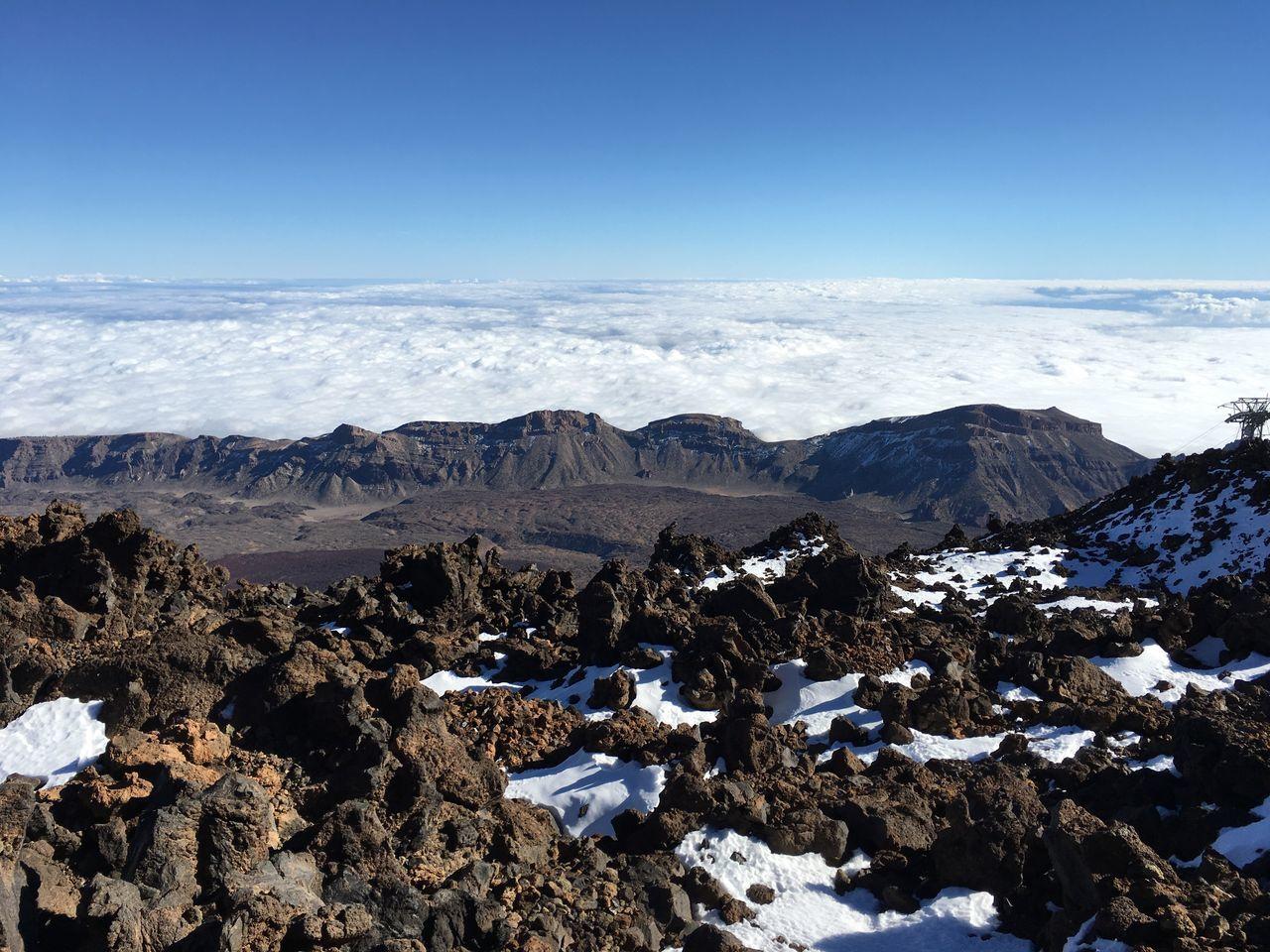 Mar de nubes sobre casi 3500 metros sobre el nivel del mar Tranquil Scene Nature Scenics Sea Cloud Altitude Volcano National Park Extreme Terrain Nature