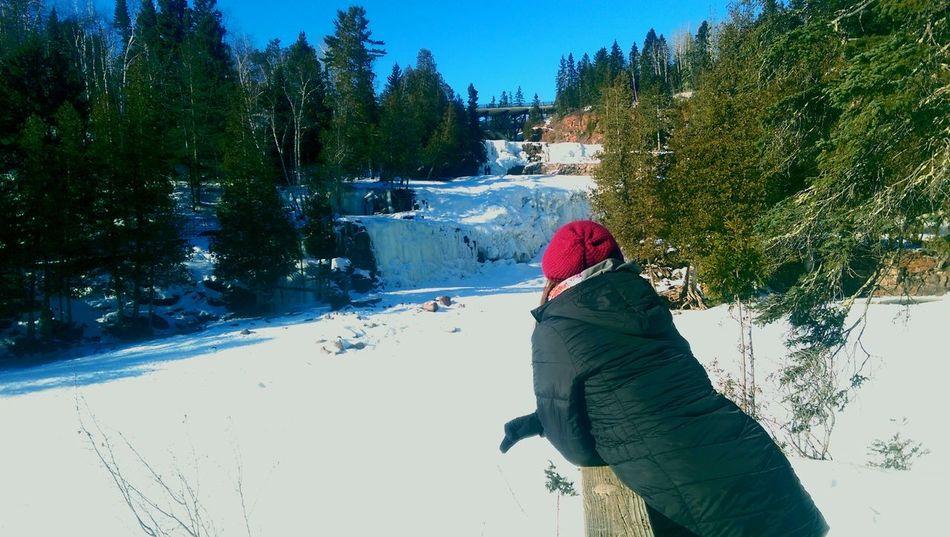 Gooseberry Falls Frozen Waterfall Winter Wonderland