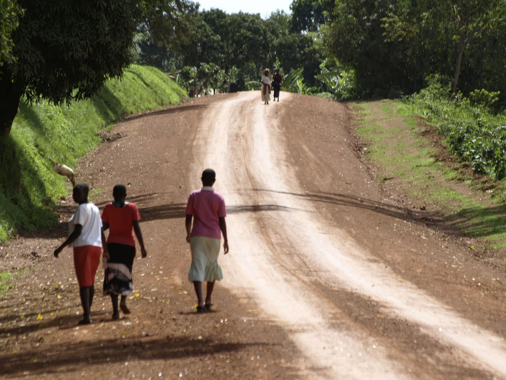 Walking to next Disco Highway Rural Africa Rural Scene