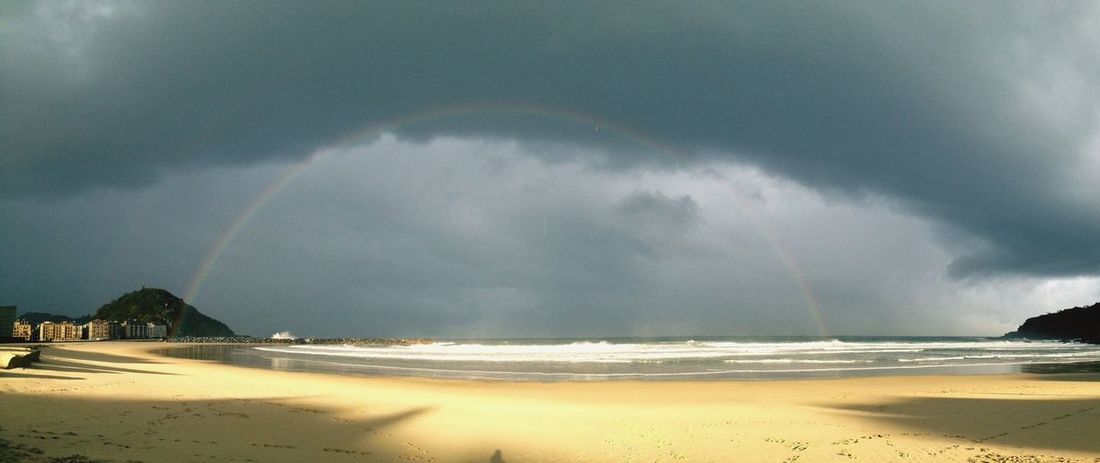 Rainbow in the Basque Country.