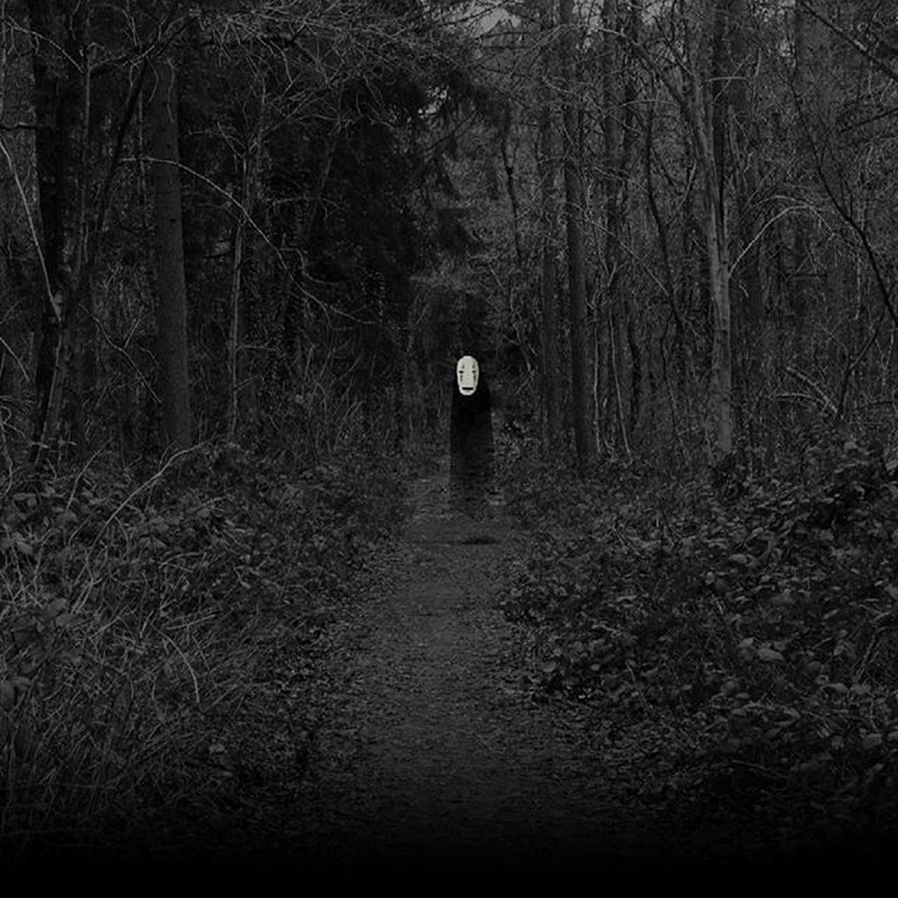 The Photo is taken Byme i only put a Blackandwhite Filter and Noface on it. My Favourite Studioghibli Character Photograpy Landscape Forest Trees Tree Dark Ghost Follow Chihiro Ohngesicht Scary Copyright Canon Amateur Wallpaper Instagood Instapic photooftheday pictureoftheday anime otaku japan @studi0ghibli