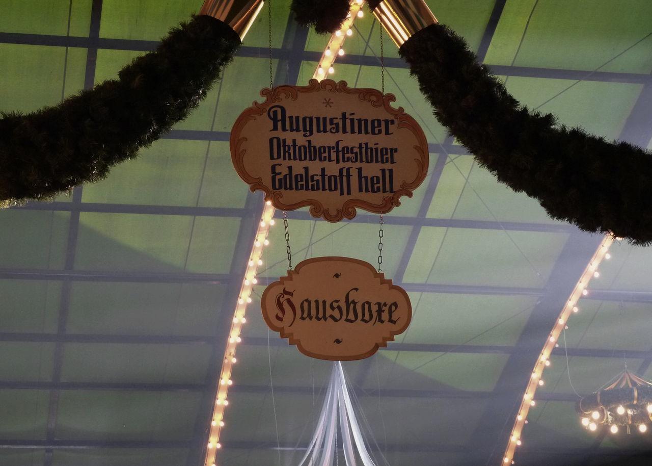 Augustiner Augustiner Bräu München  Hanging Munich No People Octoberfest Oktoberfest Shield Text Wiesn