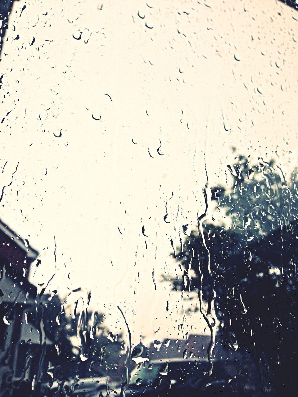 View Of Wet Window