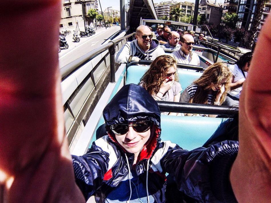 The Tourist Tourbus Tourism Citybus Barcelona♡♥♡♥♡ España Barcelona Gopro
