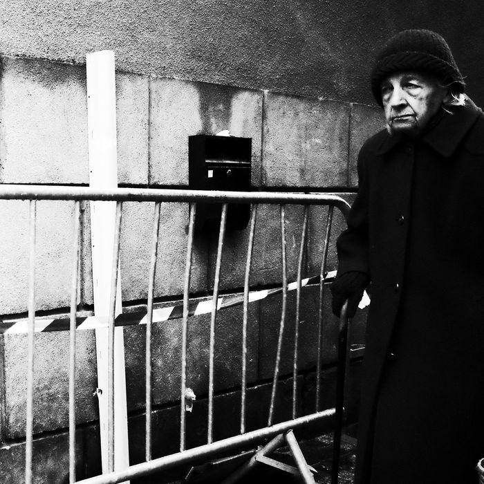 Noir Et Blanc XD Blackandwhite Day One Person People Real People Senior Adult Standing Street Photography Streetphotography Xdn